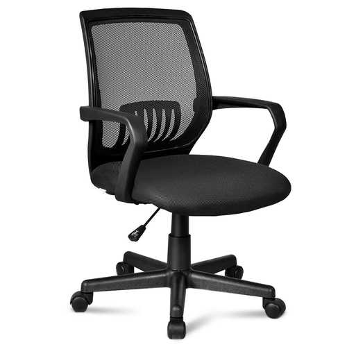 Lumbar Support Adjustable Rolling Swivel  Mesh Office Chair