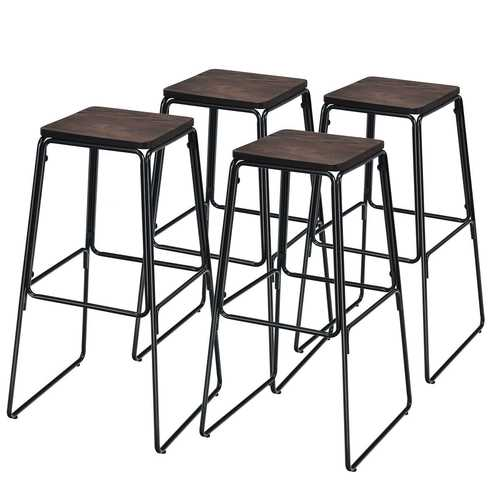 """30"""" Set of 4 Backless Industrial Bar Stools"""