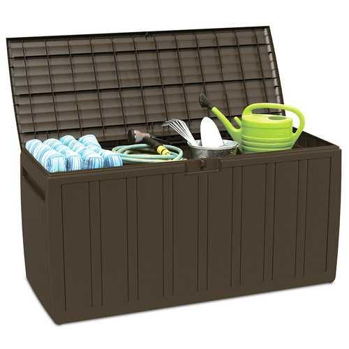 80 Gallon Plastic Deck Storage Box Tool Box Patio Storage Container