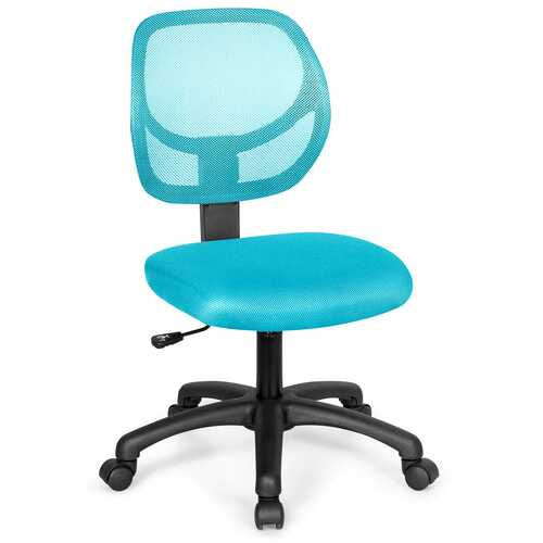 Low-back Computer Task Office Desk Chair with Swivel Casters-Green
