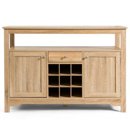 Buffet Server Sideboard Wine Cabinet Console-Natural