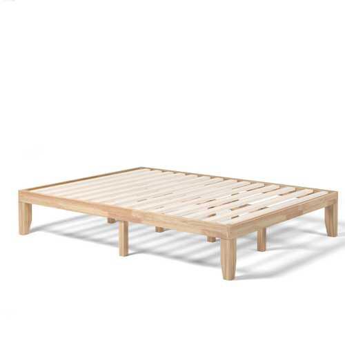 """Queen Size 14"""" Wooden Bed Mattress Frame-Natural"""