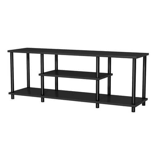 3-Tier TV Stand Entertainment Media Center Console Shelf-Black