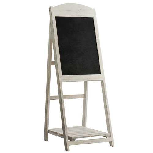 Vintage Folding Chalkboard Easel with Display Shelf