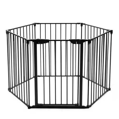 6 Panel Metal Gate Baby Pet Fence Safe Playpen