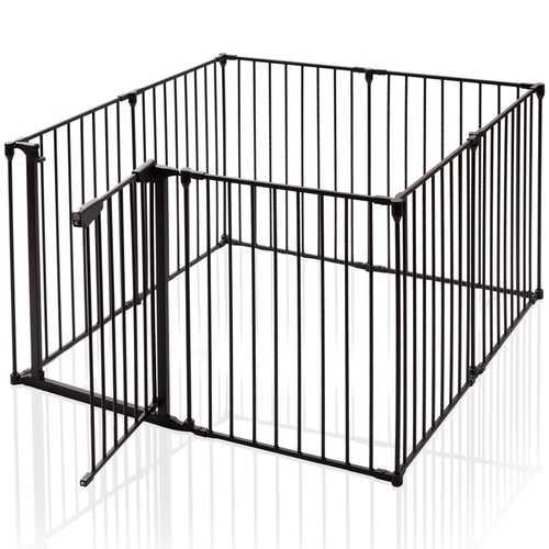 8 Panels Metal Gate Baby Pet Fence Safe Playpen Barrier
