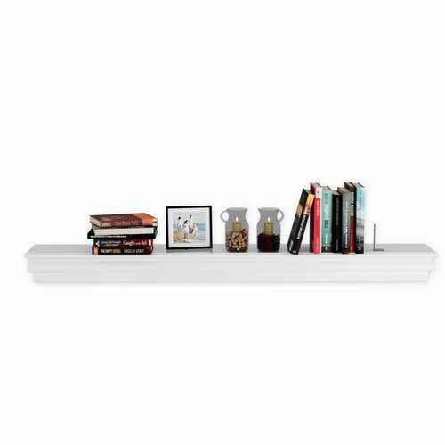 """60"""" Floating Shelf Wall Mounted Shelves Beveled Storage Rack"""