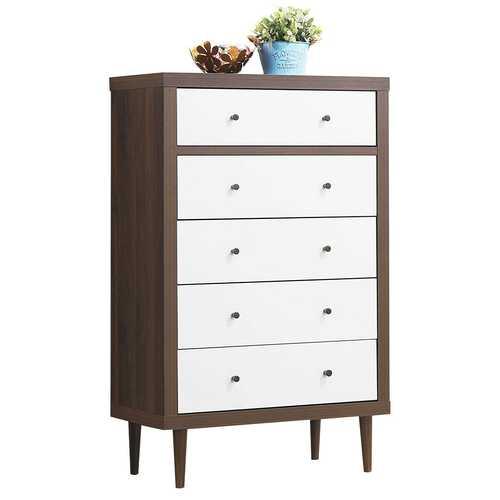 5 Drawer Dresser Wood Chest of Storage Cabinet Organizer