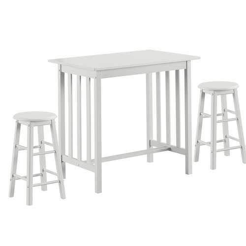 3-Piece Counter Height Breakfast Table with 2 Stools