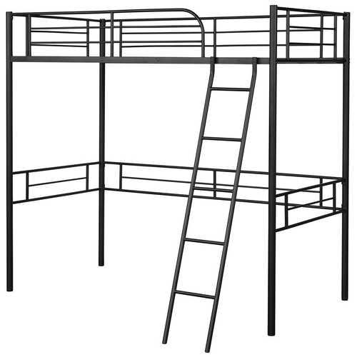 Metal Loft Twin Bed Frame Single High Loft Bed