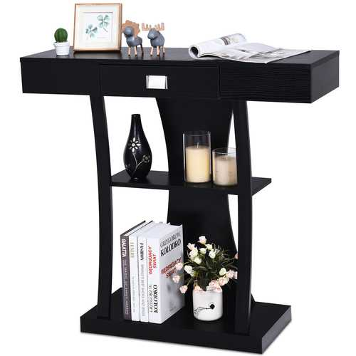 Console Table Sofa Entry Hallway Desk Storage Display Shelves