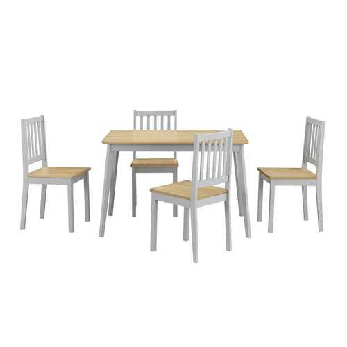 5 Piece Mid Century Modern Dining Table Set