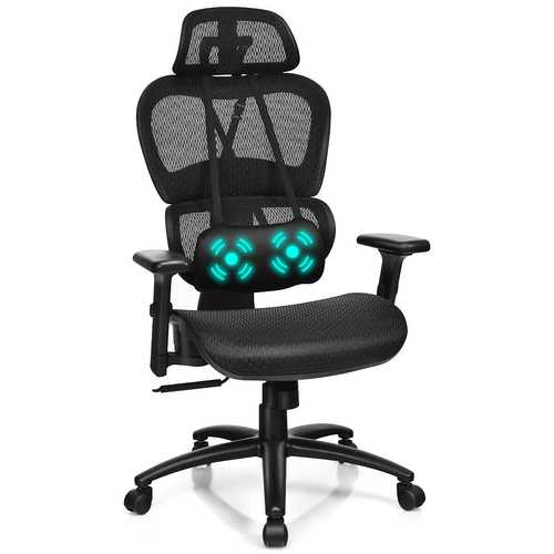 Mesh Office Chair Recliner Adjustable Headrest