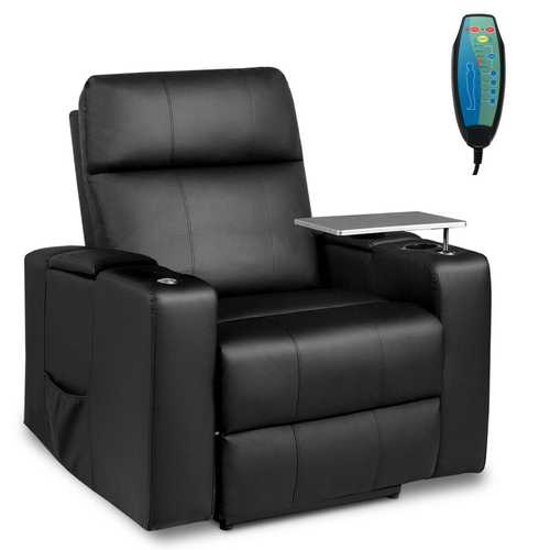 Massage Recliner Chair Seating with Swivel Tray&Remote Control