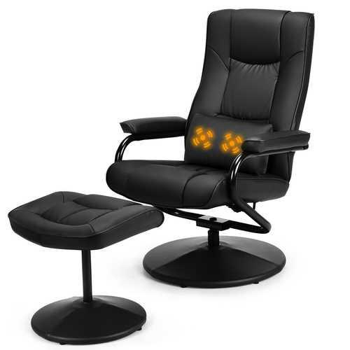 Massage Recliner Chair Swivel Armchair Lounge