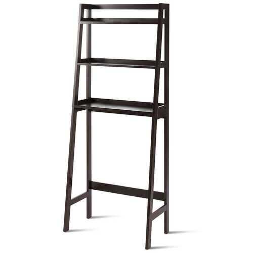 3-Shelf Over-The-Toilet Storage Organizer Rack-Brown