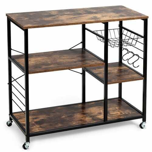 Rolling Industrial Kitchen Baker's Storage Shelf