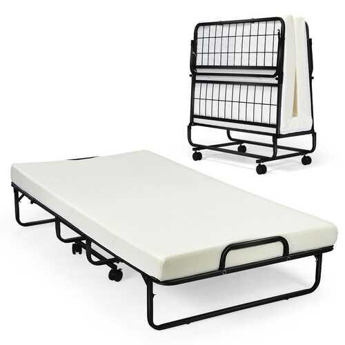 Heavy Duty Foldable Memory Foam Bed with Mattress