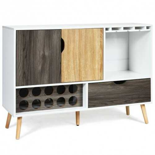 Mid-Century Buffet Sideboard Wooden Storage Cabinet
