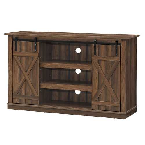 Sliding Barn TV Stand Console Table-Brown