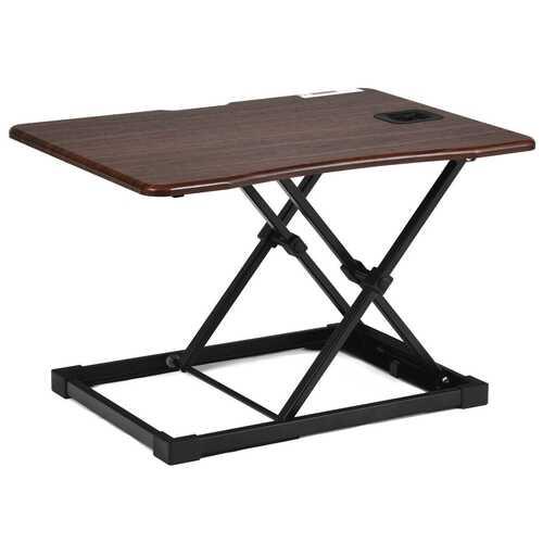 Height Adjustable Standing Computer Desk-Brown