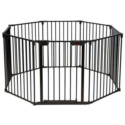 Adjustable  Panel Baby Safe Metal Gate Play Yard-Black