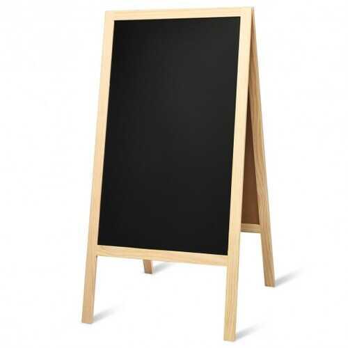 A-Frame Chalkboard Sign with Eraser & Chalk-Natural