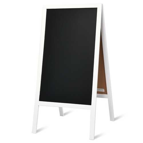 A-Frame Chalkboard Sign with Eraser & Chalk-White