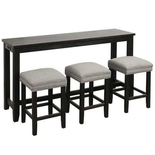 4 Piece Bar Table Set