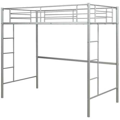 Metal Twin Loft Ladder Beds-Silver