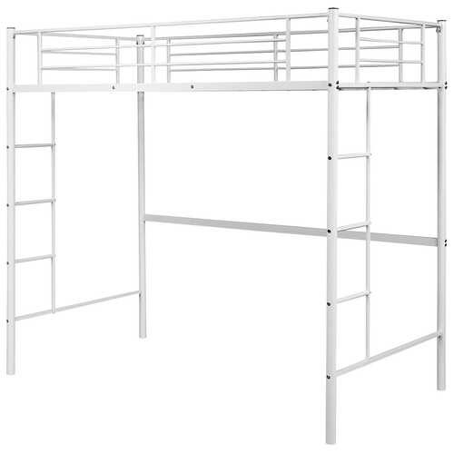 Metal Twin Loft Ladder Beds-White