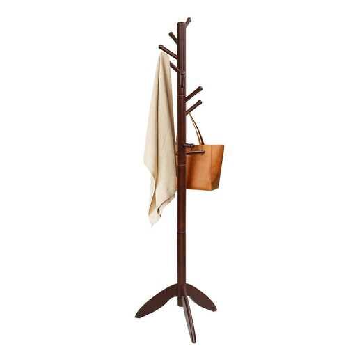 Wooden Free Standing Coat Rack -Walnut
