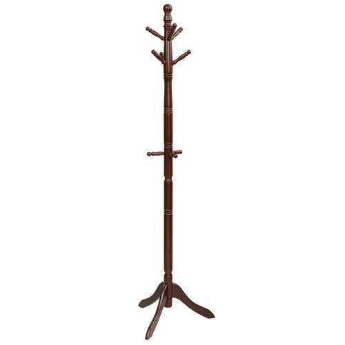 Adjustable Free Standing Wooden Coat Rack-Brown