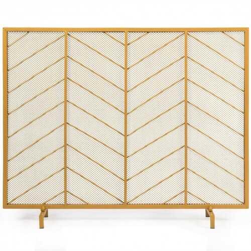 "39""x31"" Single Panel Fireplace Screen Spark Guard Fence"
