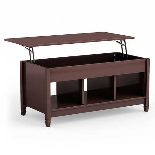 Lift Top Coffee Table with Hidden Storage Compartment-Coffee