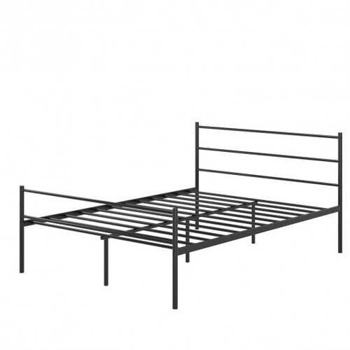 "77.5"" x 55.5"" x 35.0"" 10 Legs Full Size Metal Bed Frame-Black"