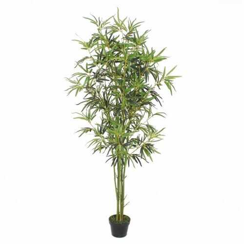 6 ft Artificial Bamboo Silk Tree Decorative Planter