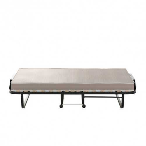 Rollaway Folding Bed with Memory Foam Mattress Made in Italy