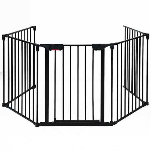 Fireplace Fence Baby Safety Fence  - Color: Black