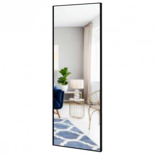 59''Full Length Mirror Large Rectangle Bedroom Mirror-Black - Color: Black