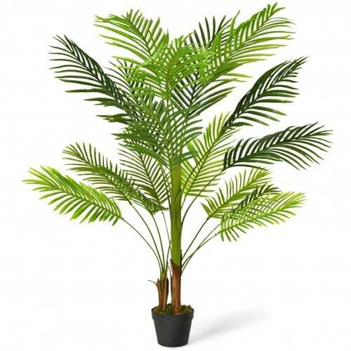 4.3 Ft Indoor Artificial Phoenix Palm Tree Plant - Size: 4.3 ft
