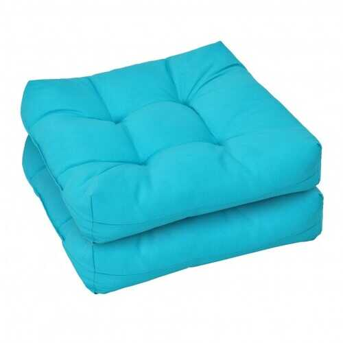"""21"""" x 21"""" Patio Chair Seat Cushion Pads for Indoor and Outdoor-Turquoise - Color: Turquoise"""