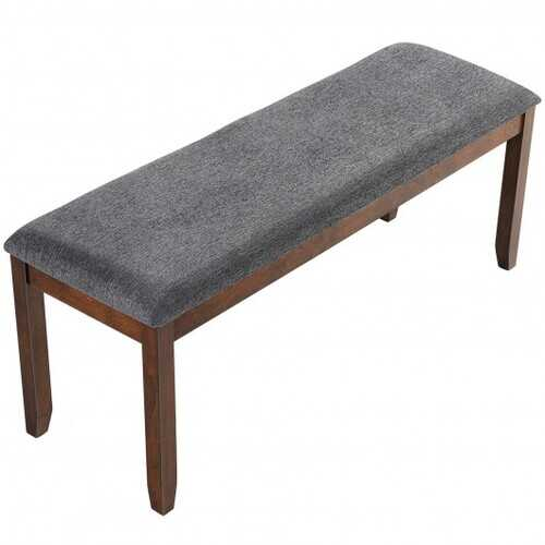 Upholstered Entryway Bench Footstool with Wood Legs
