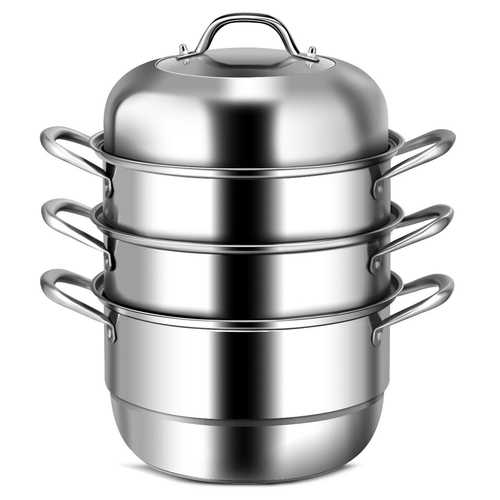 3 Tier Stainless Steel Cookware Pot Saucepot Steamer