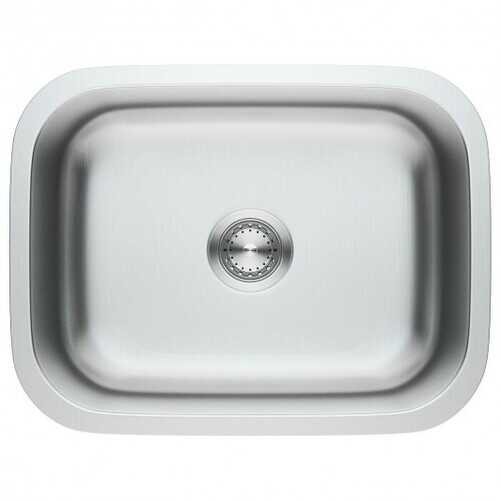 "23"" Stainless Steel Single Bowl Kitchen Sink Basin"