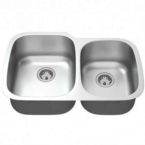 "32"" Stainless Steel Double Bowl Kitchen Sink"