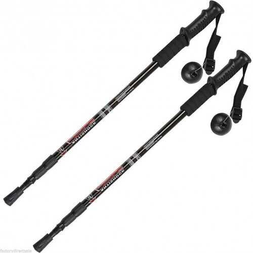 Pair 2 65-135 cm Trekking Alpenstock Anti-shock Sticks