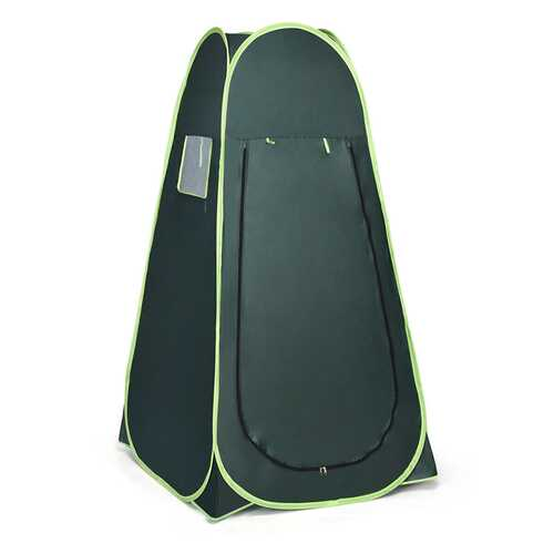 Pop Up Camping Shower Toilet Changing Room Tent - Color: Green