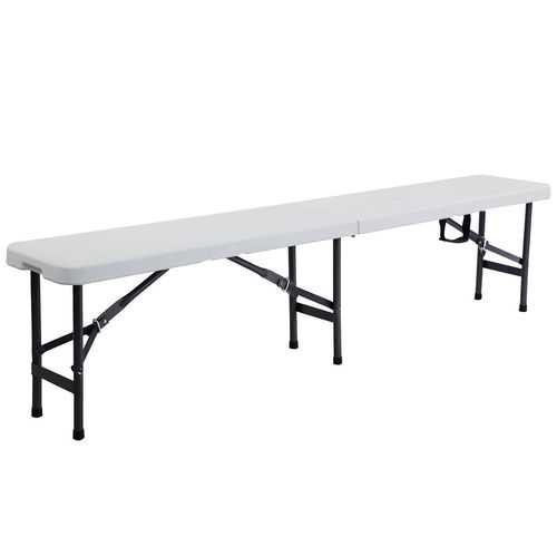 6' Portable Plastic In / Outdoor Picnic Camping Folding Bench