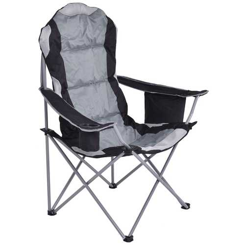 Folding Fishing Camping Chair with Cup Holder Side Bag